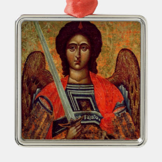 Icon of the Angel Michael, Greek, 18th century Christmas Ornament