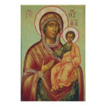 Icon of the Mother of God Hodigitria Poster