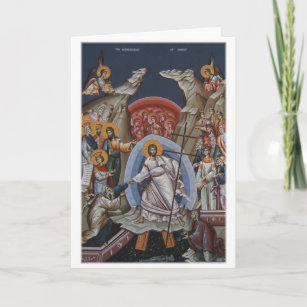 Icon of the Resurrection of Christ Holiday Card