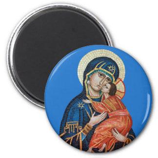 Icon of the Theotokos Round Magnet