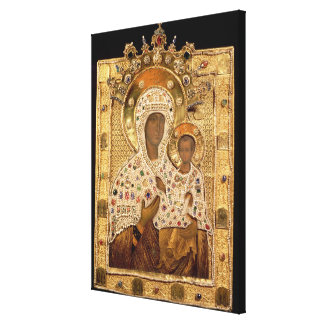 Icon of the Virgin, Smolenskaja monastery Stretched Canvas Prints