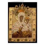 Icon of the Virgin, Smolenskaja monastery Greeting Cards
