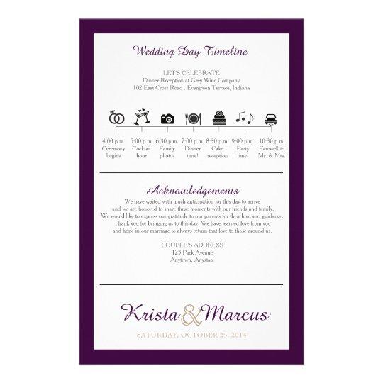 Icon TImeline Wedding Program Flyer