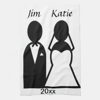 Icon Wedding Couple Tea Towel