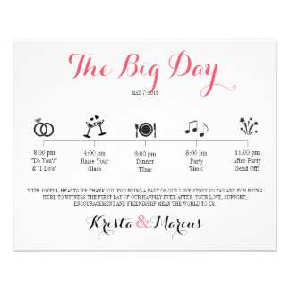 Icon Wedding Itinerary - Destination Wedding 11.5 Cm X 14 Cm Flyer