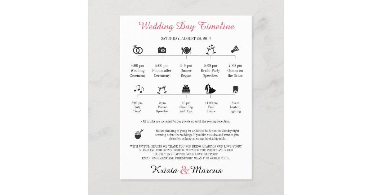 icon wedding timeline program zazzle co uk