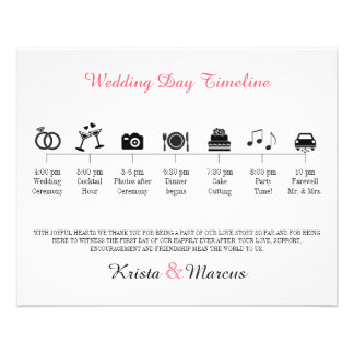 Icon Wedding Timeline Program 11.5 Cm X 14 Cm Flyer