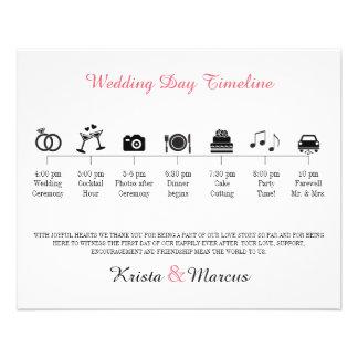 Icon Wedding Timeline Program 11.5 Cm X 14 Cm Flyer
