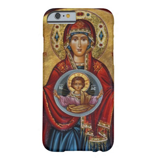 Iconic 15th Century Mary with Christ Child iPhone 6 Case