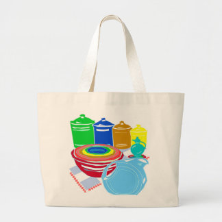 Iconic and Forever Stylish Dinnerware Tote Jumbo Tote Bag
