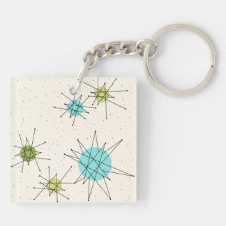 Iconic Atomic Starbursts Acrylic Keychain