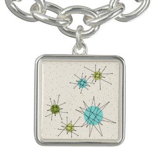 Iconic Atomic Starbursts Charm Bracelet