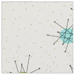 Iconic Atomic Starbursts Combed Cotton Fabric