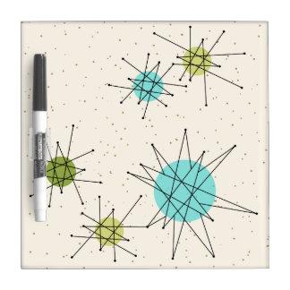 Iconic Atomic Starbursts Dry Erase Board