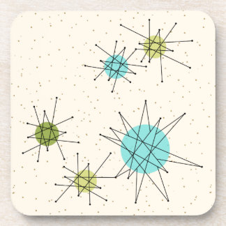 Iconic Atomic Starbursts Hard Plastic Coasters