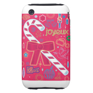Iconic Candy Cane iPhone 3 Tough Cover
