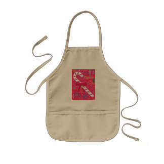 Iconic Candy Cane Kids Apron