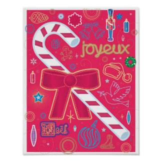 Iconic Candy Cane Poster