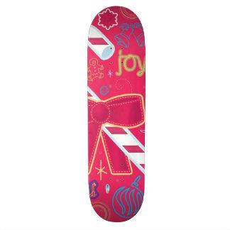 Iconic Candy Cane Custom Skate Board