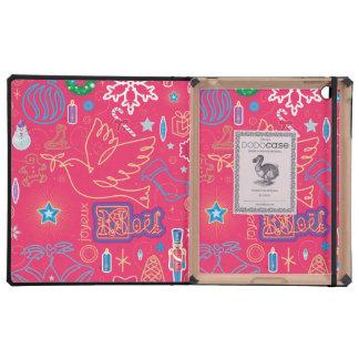 Iconic Christmas iPad 2/3/4 DODOcase, Black Cover iPad Folio Case