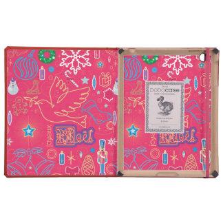 Iconic Christmas iPad 2/3/4 DODOcase, Coral Cover iPad Folio Case