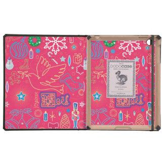 Iconic Christmas iPad 2/3/4 DODOcase, Granite Cvr iPad Folio Cover