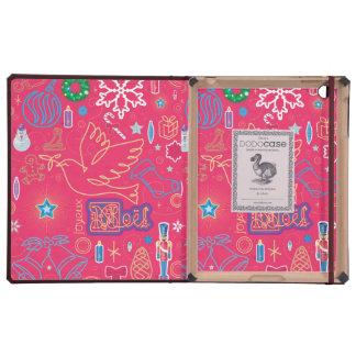 Iconic Christmas iPad 2/3/4 DODOcase, Merlot Cover iPad Folio Case
