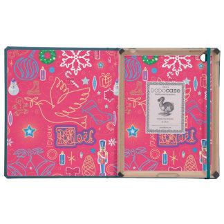 Iconic Christmas iPad 2/3/4 DODOcase, Sky Blue Cov iPad Cover