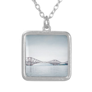 Iconic Forth Rail Bridge - Scotland Silver Plated Necklace