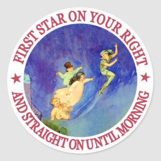 ICONIC IMAGE FROM PETER PAN ROUND STICKER