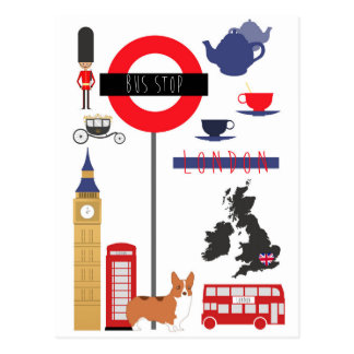 Iconic London Best of Britain Postcard