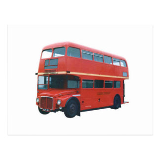 Iconic London Red Bus Poscard Postcard