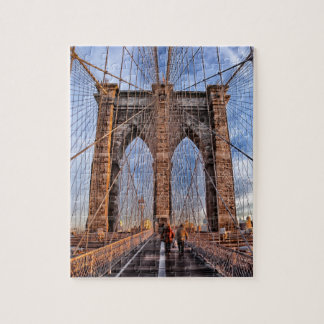 Iconic New York Landmark Brooklyn Bridge Jigsaw Puzzle