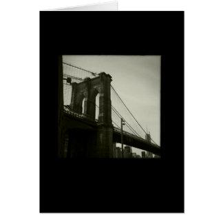 Iconic New York Series: Brooklyn Bridge Greeting Card