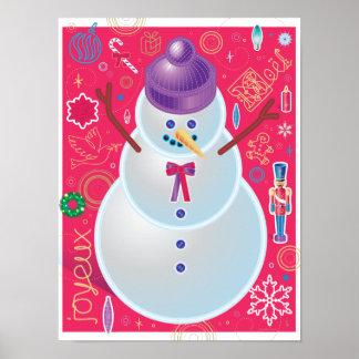 Iconic Snowman Print