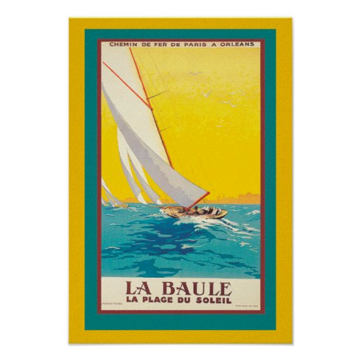 Iconic Vintage Travel poster La Baule
