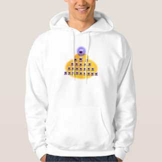 Iconographic Computer Networking Hooded Pullovers