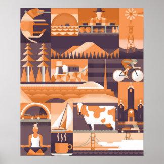 Icons of Marin & San Francisco Poster