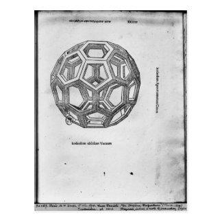 Icosahedron, from 'De Divina Proportione' Postcard