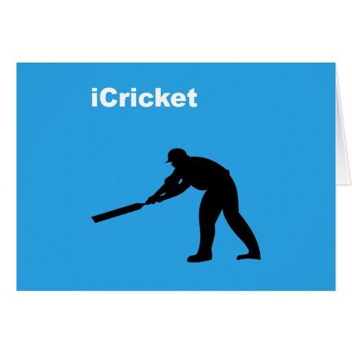 iCricket Greeting Card