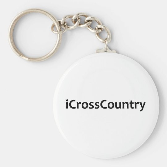 iCrossCountry Basic Round Button Key Ring