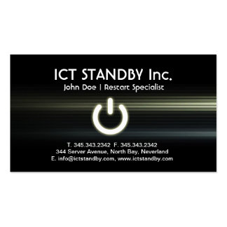 ICT cool glow business card Standby