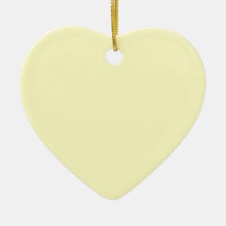 Icterine Yellow Ceramic Heart Decoration