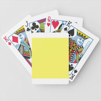 Icterine Yellow Poker Deck