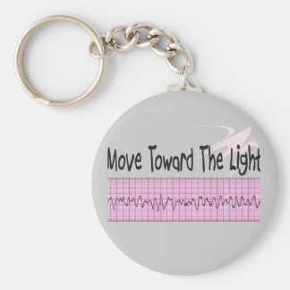 ICU Nurse Gift--Hilarious V-Fib EKG Strip Design Basic Round Button Key Ring