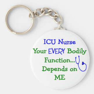 ICU Nurse Gifts Basic Round Button Key Ring