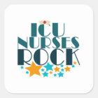 ICU Nurses Rock Square Sticker
