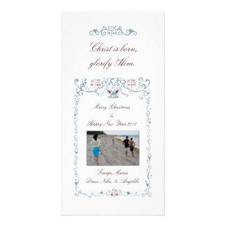 ICXC Blue Customised Photo Card