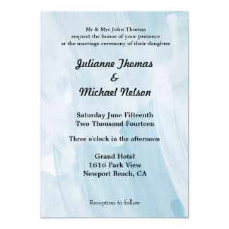 Icy Blue Abstract Custom Announcements