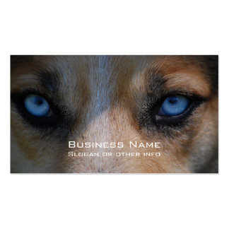 Icy Blue Canine Eyes Double-Sided Standard Business Cards (Pack Of 100)
